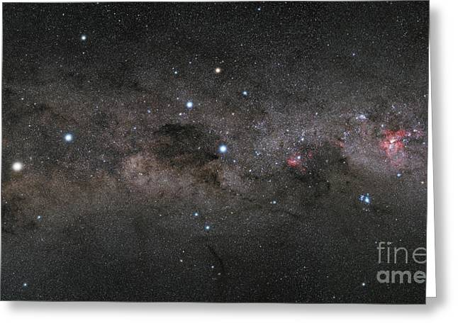 Asterism Greeting Cards - The Southern Cross And The Pointers Greeting Card by Philip Hart