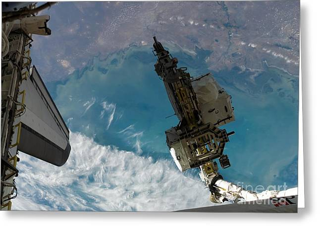 Component Greeting Cards - The Space Shuttle Endeavours Remote Greeting Card by Stocktrek Images