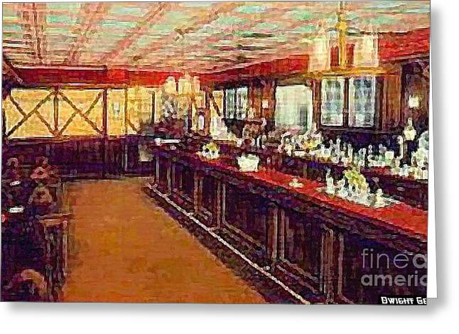 Asbury Park Paintings Greeting Cards - The Spanish Tavern In Asbury Park N J 1905 Greeting Card by Dwight Goss
