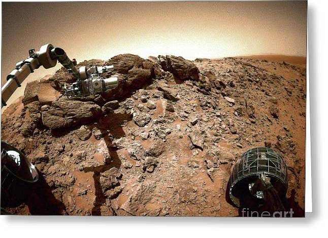 Planet Mars Greeting Cards - The Spirit Rover On Mars Greeting Card by Nasa