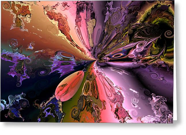 Algorithmic Greeting Cards - The splendor of creation Greeting Card by Claude McCoy
