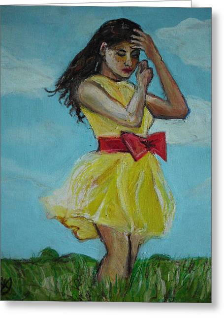 The Spring Bow Dress Greeting Card by Adam Kissel