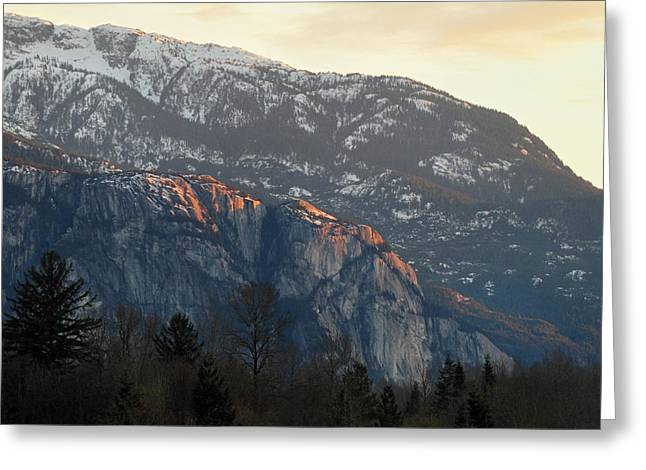 The Squamish Chief Greeting Card by Pierre Leclerc Photography