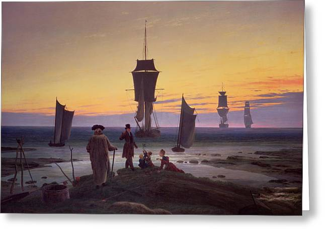 1835 Greeting Cards - The Stages of Life Greeting Card by Caspar David Friedrich