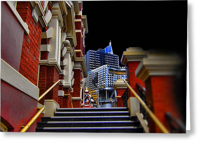 Public Bath Greeting Cards - The Stairs to Higher Education Greeting Card by Douglas Barnard