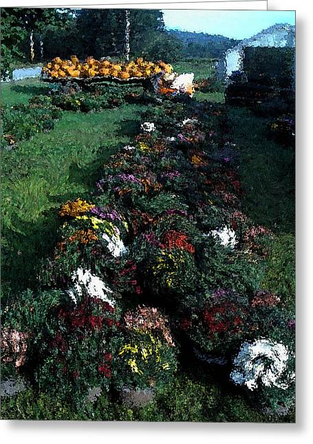 Farm Stand Greeting Cards - The Stand in Autumn Greeting Card by Wayne King