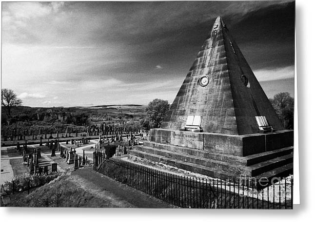 Star Valley Greeting Cards - The Star Pyramid Near Valley Cemetery Stirling Scotland Uk Greeting Card by Joe Fox