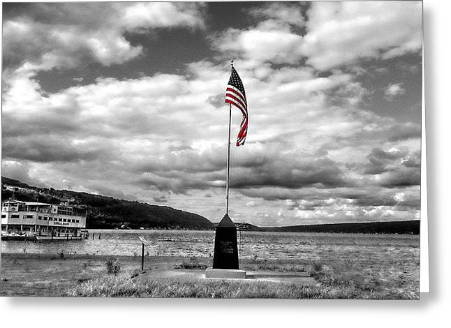 Keuka Greeting Cards - The Star-Spangled Banner in Triumph Shall Wave Greeting Card by Jessica Grandall