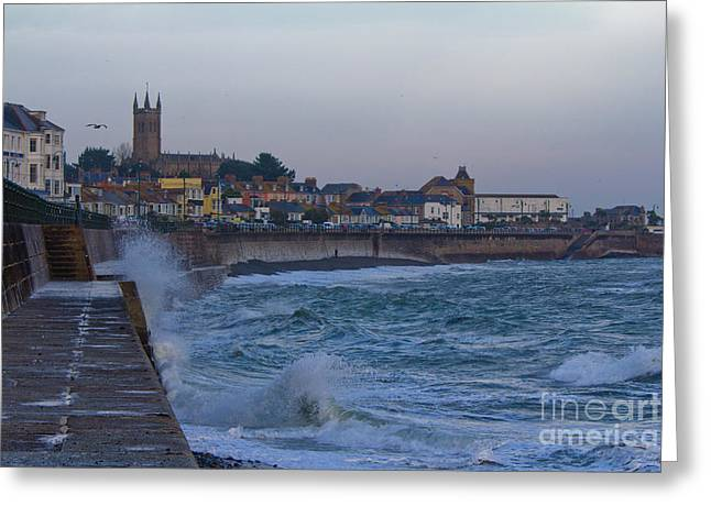 Cornwall Greeting Cards - The start of Winter Greeting Card by Brian Roscorla