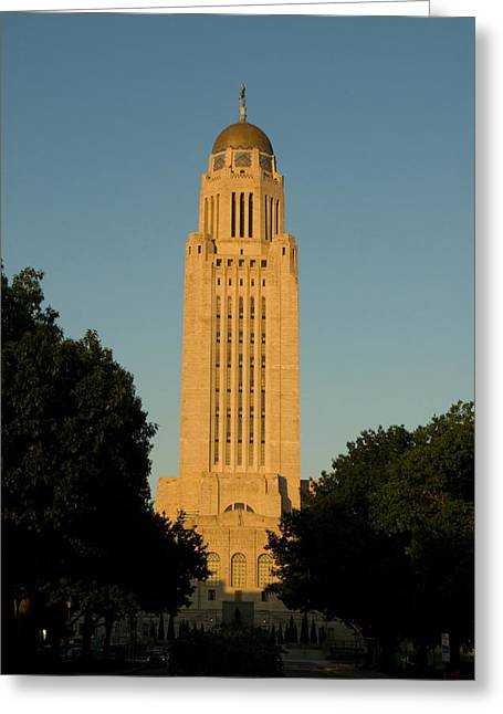 National Geographic - Greeting Cards - The State Capitol Building In Lincoln Greeting Card by Joel Sartore