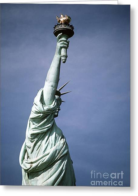 United We Stand Greeting Cards - The Statue Of Liberty Greeting Card by Stocktrek Images