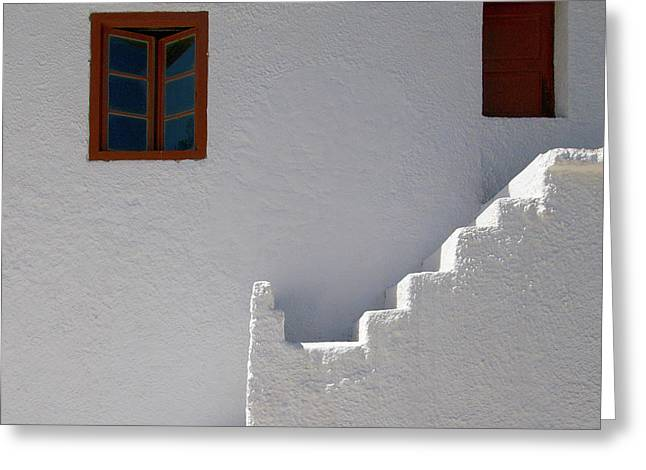 Panagia Greeting Cards - The Steps and the Window Greeting Card by Jouko Lehto