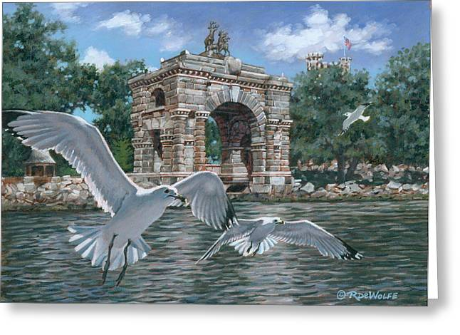 The Stone Arch Greeting Card by Richard De Wolfe