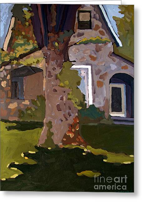 The Stone House On Laughing Waters Greeting Card by Charlie Spear
