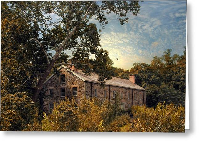 Botanical Greeting Cards - The Stone Mill Greeting Card by Jessica Jenney