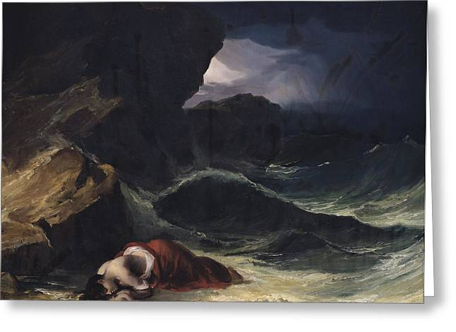 Drown Greeting Cards - The Storm or The Shipwreck Greeting Card by Theodore Gericault