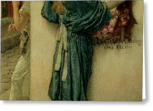 The Street Altar Greeting Card by Sir Lawrence Alma-Tadema