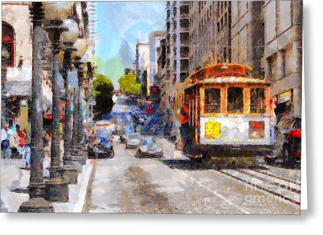 Highrise Digital Greeting Cards - The Streets of San Francisco . 7D7263 Greeting Card by Wingsdomain Art and Photography