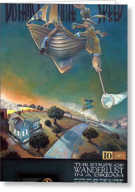 Dodo Bird Greeting Cards - The Strife of Wanderlust in a Dream Greeting Card by Patrick Anthony Pierson