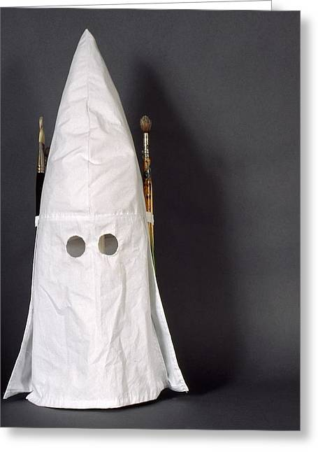 Kkk Greeting Cards - The struggle against bigotry a Self Portrait Greeting Card by David  Beers
