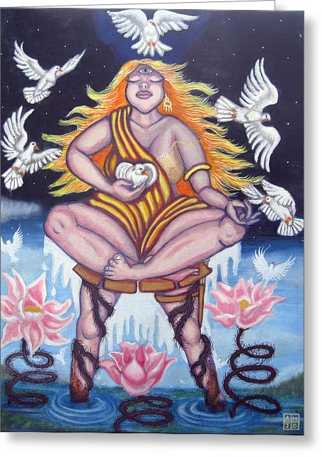 Warrior Goddess Greeting Cards - The Struggle Greeting Card by Amiee Johnson