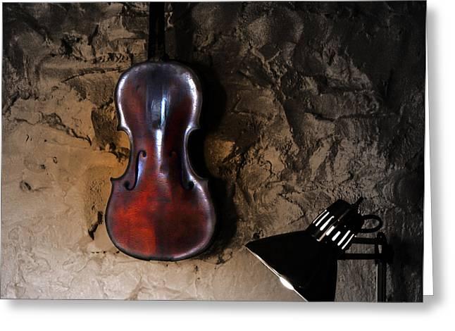 Violin Digital Greeting Cards - The Studio  Greeting Card by Steven  Digman
