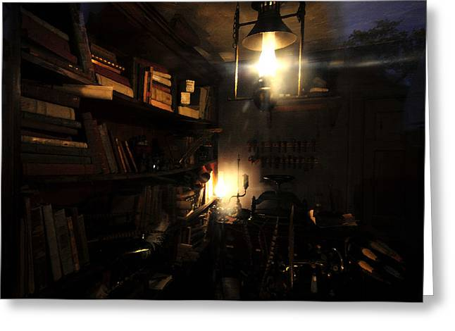 Candle Lit Digital Art Greeting Cards - The Study Greeting Card by David Lee Thompson