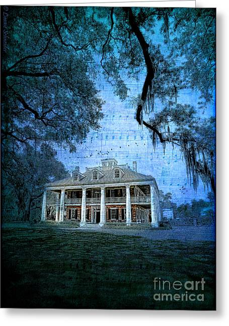 Lianne Schneider Fine Art Print Greeting Cards - The Sugar Palace - River Road Blues Greeting Card by Lianne Schneider