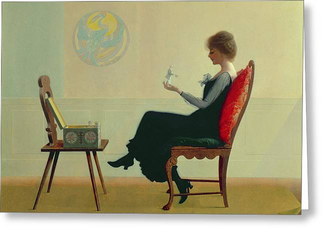 2 Seat Greeting Cards - The Suitors Greeting Card by Harry Wilson Watrous