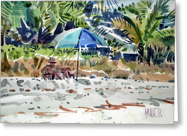 Captiva Greeting Cards - The Sun Bather Greeting Card by Donald Maier