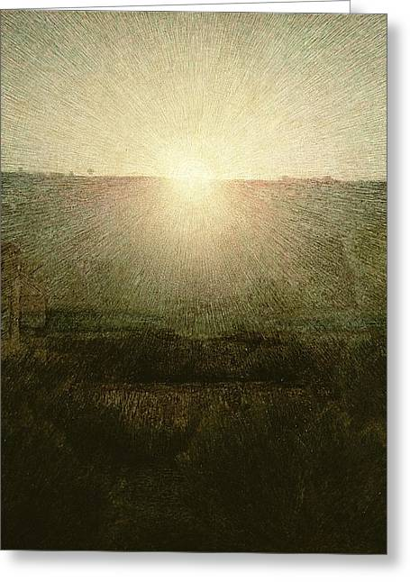 Rising Greeting Cards - The Sun Greeting Card by Giuseppe Pellizza da Volpedo