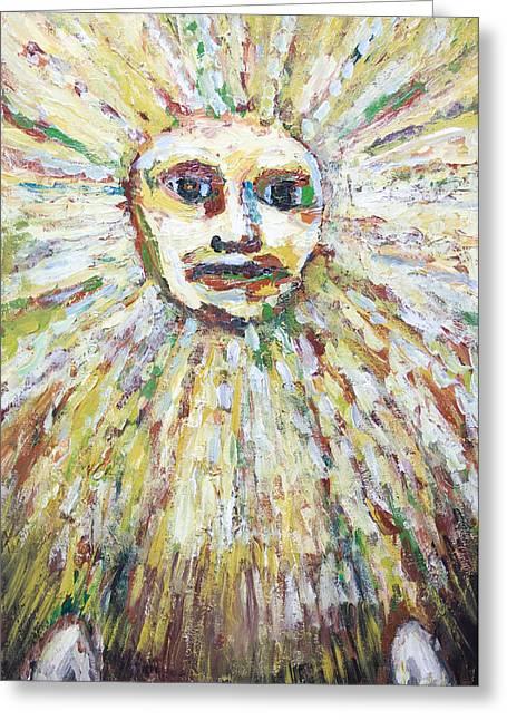 The Sun God Greeting Cards - The Sun God Greeting Card by Kazuya Akimoto