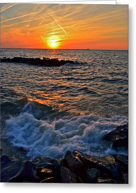 Wave Sublime Greeting Cards - The Sun is Wearing Shades Greeting Card by Frozen in Time Fine Art Photography
