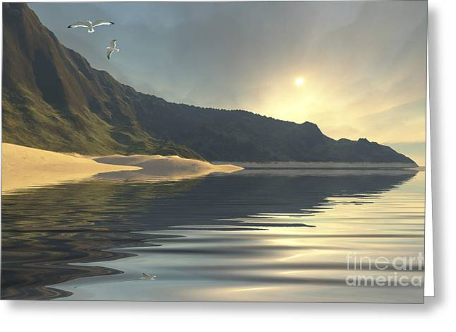 The Sun Sets On A Beautiful Greeting Card by Corey Ford