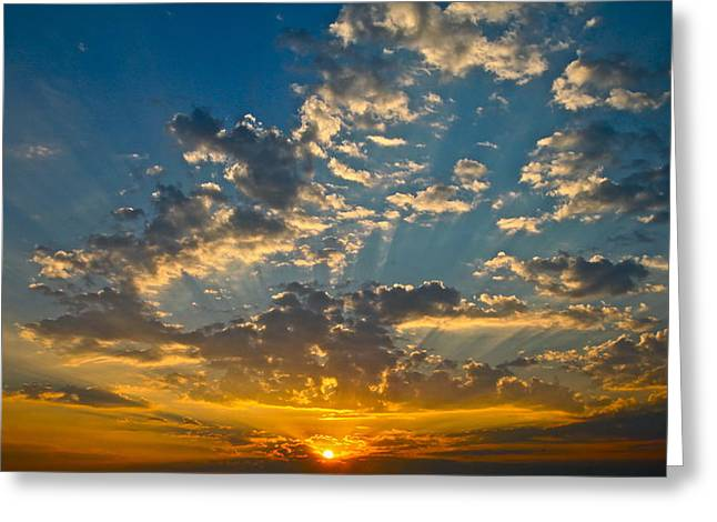 Amazing Sunset Greeting Cards - The Sunset Greeting Card by Snow White