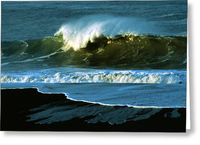 Ocean Art. Beach Decor Greeting Cards - The Surf Motel Greeting Card by Jerry McElroy