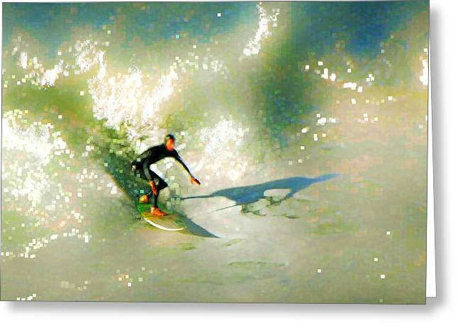 Surfing Photos Digital Art Greeting Cards - The Surfers Dream Greeting Card by David Rearwin