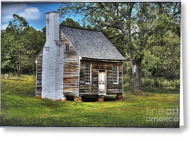 Cabin Window Digital Art Greeting Cards - The Sweeney Place - color Greeting Card by Dan Stone