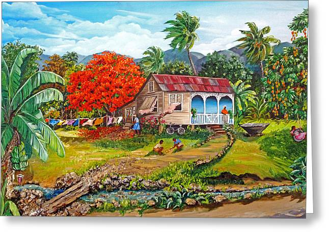 Mango Paintings Greeting Cards - The Sweet Life Greeting Card by Karin Kelshall- Best