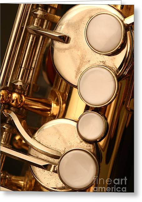 Gold Buttons Greeting Cards - The Sweet Sound of Old Jazz Greeting Card by Margie Hurwich