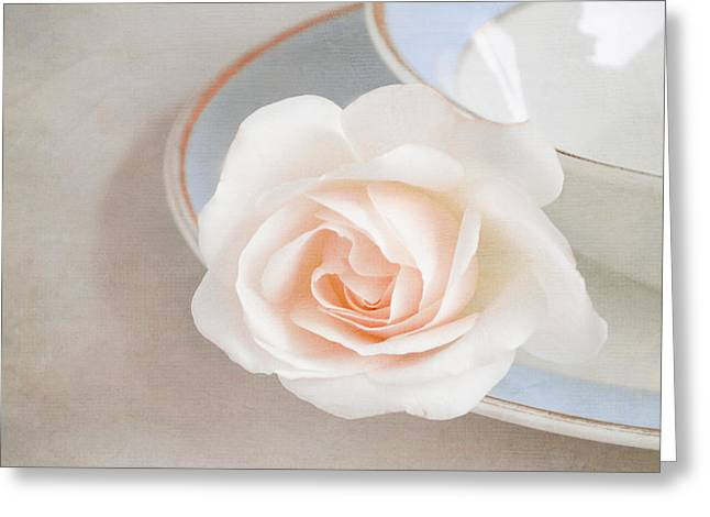 Cream Rose Greeting Cards - The sweetest rose Greeting Card by Lyn Randle
