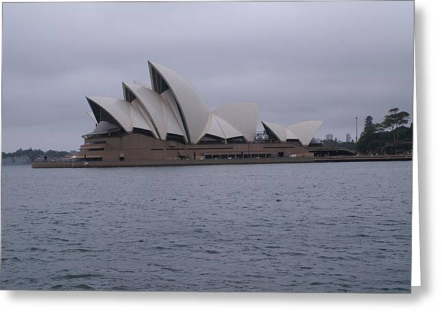 Photo-realism Pyrography Greeting Cards - The Sydney Opera House  Greeting Card by Brian Leverton
