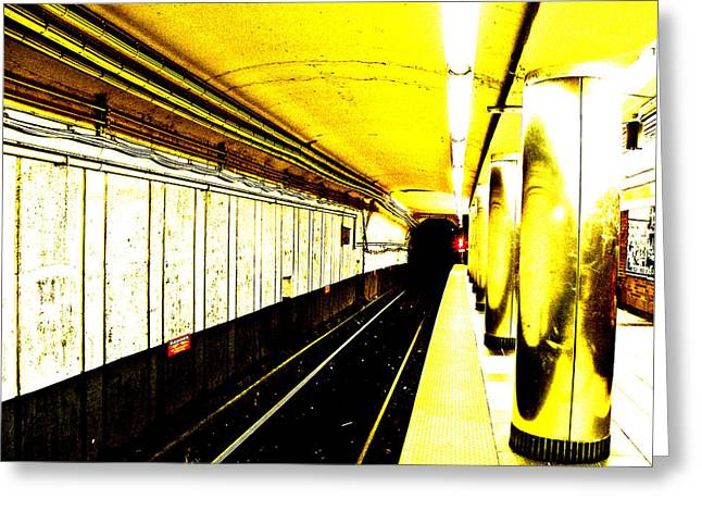 Subway Greeting Cards - The T Greeting Card by Donna Shahan