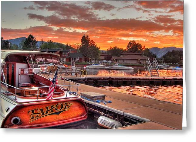 South Lake Tahoe Greeting Cards - The Tahoe Greeting Card by Brad Scott