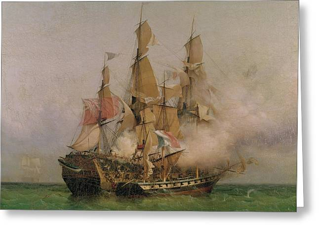The Taking of the Kent Greeting Card by Ambroise Louis Garneray