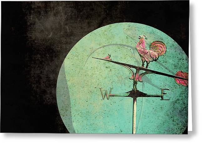 Weather Cock Greeting Cards - The Tale of a Weather Vane  Greeting Card by Sharon Coty
