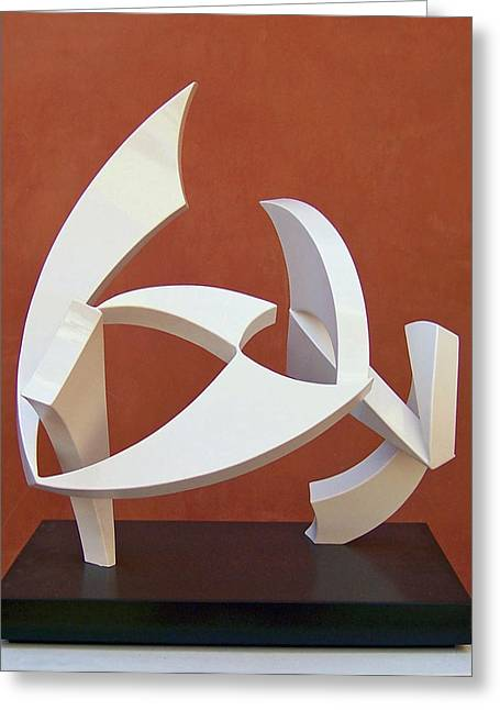 Abstract Movement Sculptures Greeting Cards - The Taming Of Pegasus  Greeting Card by John Neumann