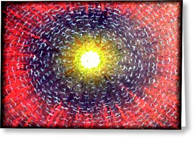 Reality Mixed Media Greeting Cards - The Tapestry of the Cosmos Greeting Card by Jon Became the Anti-Christ