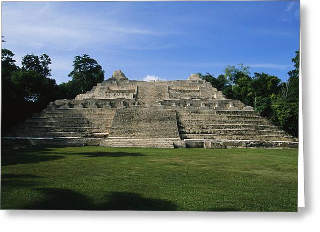 Pre Columbian Architecture And Art Greeting Cards - The Temple Of Caana At Caracol Greeting Card by Stephen Alvarez