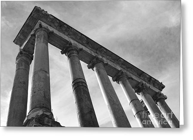 Chris Hill Greeting Cards - The Temple of Saturn Greeting Card by Chris Hill